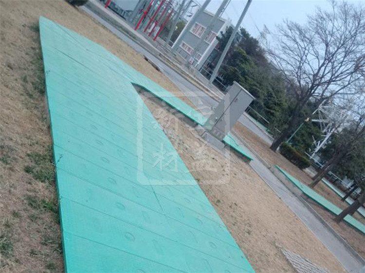 绿色电缆沟盖板